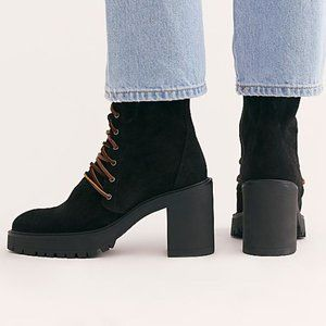 FREE PEOPLE Dylan Suede Lace Up Boots